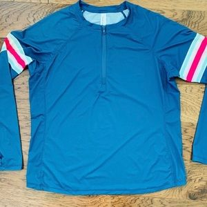 VINEYARD VINES Women's XL Swim coverup shirt LS